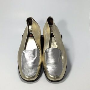 Aerosoles 90s SilverGold Vintage Loafer Leather 8B
